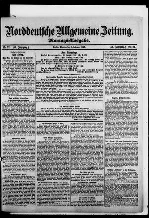 Norddeutsche allgemeine Zeitung vom 01.02.1915