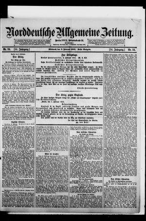 Norddeutsche allgemeine Zeitung vom 03.02.1915