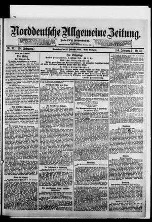 Norddeutsche allgemeine Zeitung vom 06.02.1915