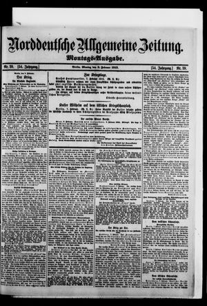 Norddeutsche allgemeine Zeitung vom 08.02.1915