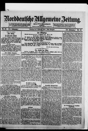 Norddeutsche allgemeine Zeitung vom 09.02.1915