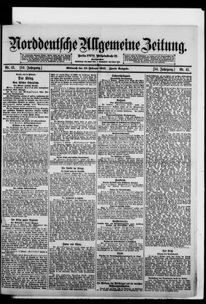 Norddeutsche allgemeine Zeitung vom 10.02.1915