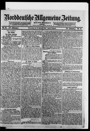 Norddeutsche allgemeine Zeitung vom 11.02.1915