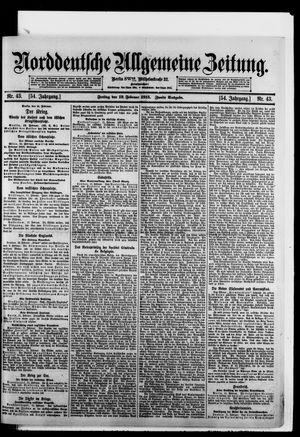 Norddeutsche allgemeine Zeitung vom 12.02.1915