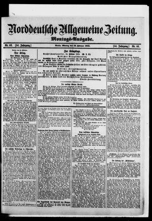 Norddeutsche allgemeine Zeitung vom 15.02.1915