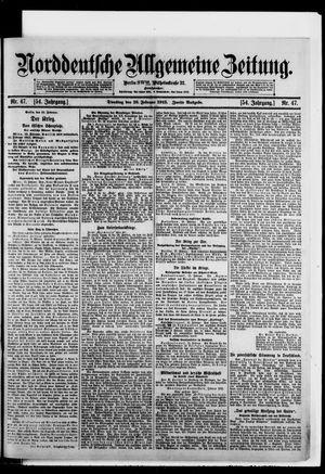 Norddeutsche allgemeine Zeitung vom 16.02.1915