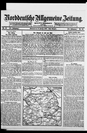 Norddeutsche allgemeine Zeitung vom 17.02.1915