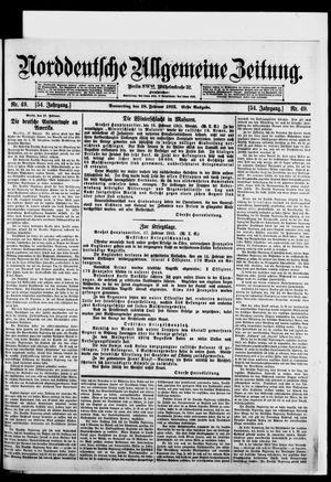 Norddeutsche allgemeine Zeitung vom 18.02.1915