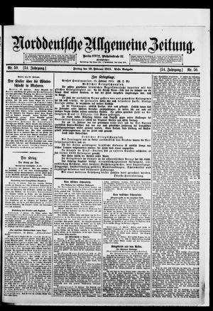 Norddeutsche allgemeine Zeitung vom 19.02.1915