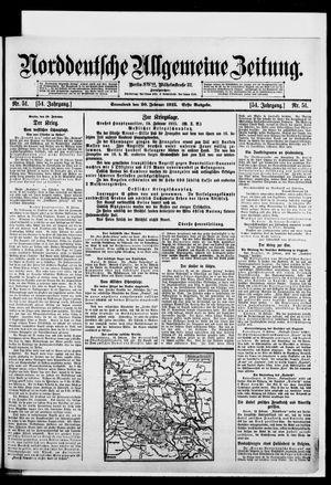 Norddeutsche allgemeine Zeitung vom 20.02.1915