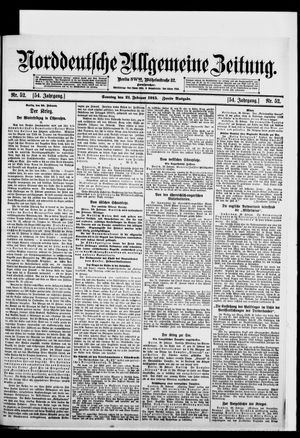 Norddeutsche allgemeine Zeitung vom 21.02.1915
