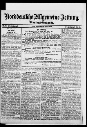 Norddeutsche allgemeine Zeitung vom 22.02.1915
