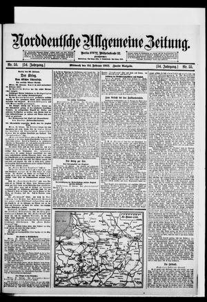 Norddeutsche allgemeine Zeitung vom 24.02.1915