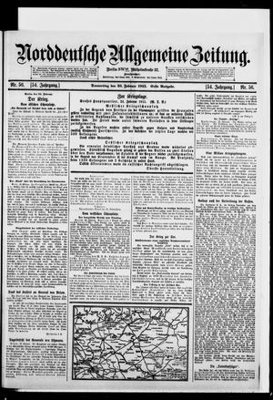 Norddeutsche allgemeine Zeitung vom 25.02.1915