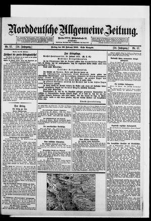 Norddeutsche allgemeine Zeitung vom 26.02.1915