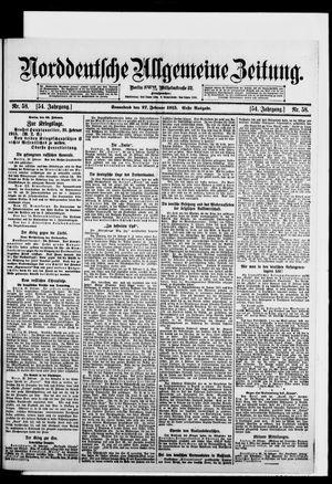 Norddeutsche allgemeine Zeitung vom 27.02.1915
