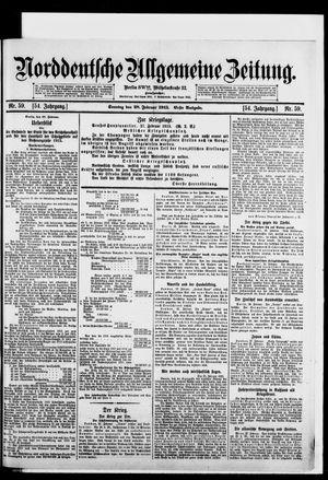 Norddeutsche allgemeine Zeitung vom 28.02.1915