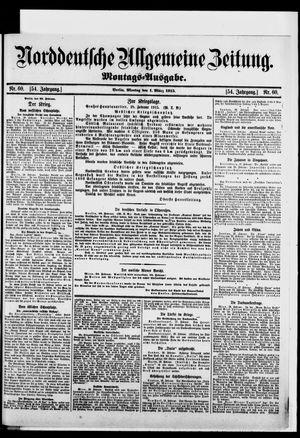 Norddeutsche allgemeine Zeitung on Mar 1, 1915