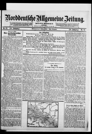 Norddeutsche allgemeine Zeitung vom 03.03.1915