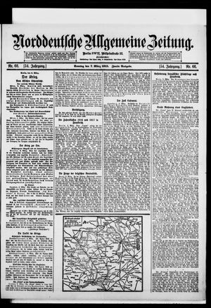 Norddeutsche allgemeine Zeitung vom 07.03.1915
