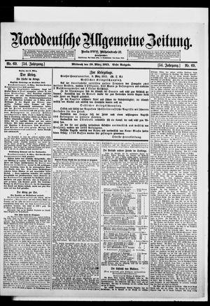 Norddeutsche allgemeine Zeitung vom 10.03.1915
