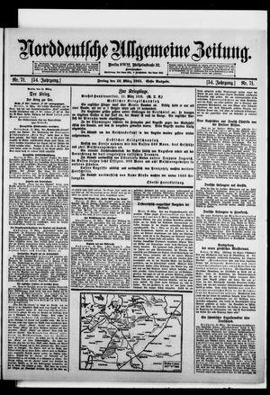 Norddeutsche allgemeine Zeitung vom 12.03.1915
