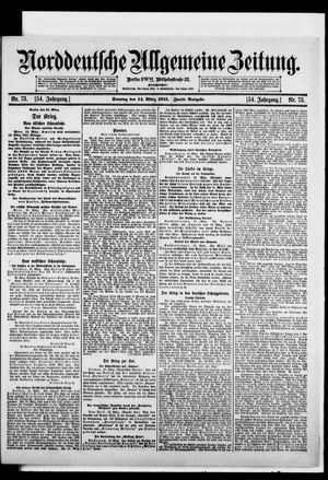Norddeutsche allgemeine Zeitung vom 14.03.1915