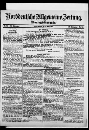 Norddeutsche allgemeine Zeitung vom 15.03.1915
