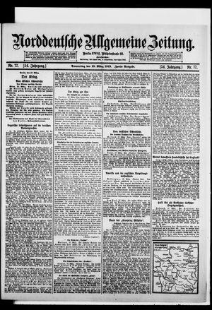Norddeutsche allgemeine Zeitung vom 18.03.1915