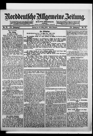 Norddeutsche allgemeine Zeitung on Mar 19, 1915
