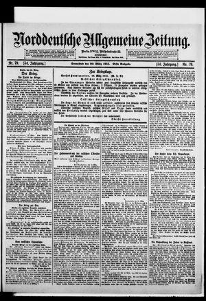 Norddeutsche allgemeine Zeitung vom 20.03.1915