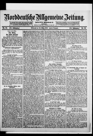 Norddeutsche allgemeine Zeitung vom 24.03.1915