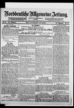 Norddeutsche allgemeine Zeitung vom 26.03.1915