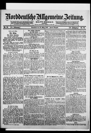 Norddeutsche allgemeine Zeitung vom 27.03.1915