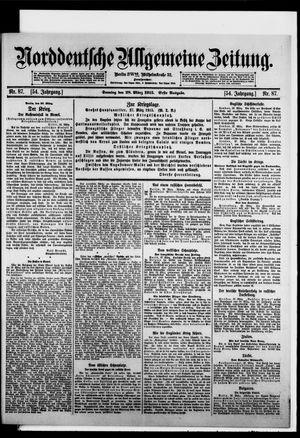 Norddeutsche allgemeine Zeitung vom 28.03.1915