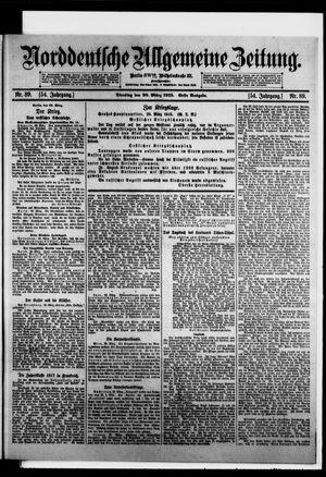 Norddeutsche allgemeine Zeitung on Mar 30, 1915