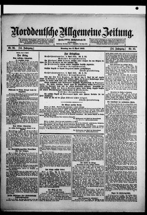 Norddeutsche allgemeine Zeitung vom 06.04.1915