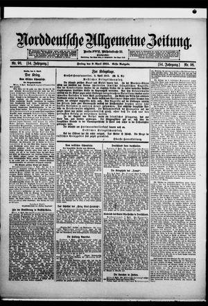Norddeutsche allgemeine Zeitung vom 09.04.1915