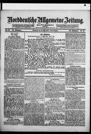 Norddeutsche allgemeine Zeitung vom 10.04.1915