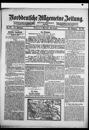 Norddeutsche allgemeine Zeitung on Apr 13, 1915
