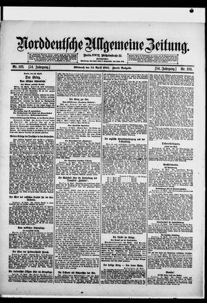 Norddeutsche allgemeine Zeitung vom 14.04.1915