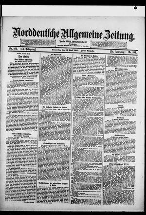 Norddeutsche allgemeine Zeitung vom 15.04.1915