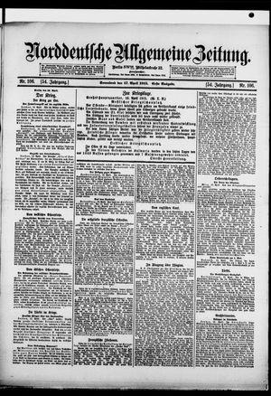 Norddeutsche allgemeine Zeitung vom 17.04.1915