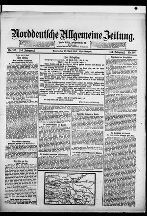 Norddeutsche allgemeine Zeitung on Apr 18, 1915