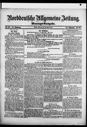 Norddeutsche allgemeine Zeitung vom 19.04.1915