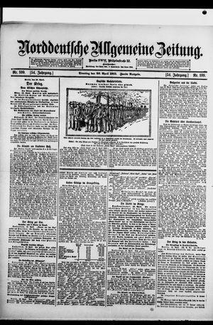 Norddeutsche allgemeine Zeitung vom 20.04.1915