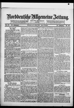 Norddeutsche allgemeine Zeitung vom 21.04.1915