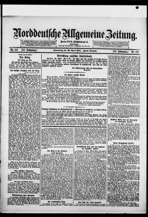 Norddeutsche allgemeine Zeitung vom 22.04.1915
