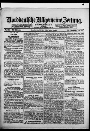 Norddeutsche allgemeine Zeitung vom 24.04.1915