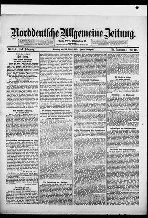 Norddeutsche allgemeine Zeitung vom 25.04.1915